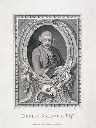 Oval Portrait of David Garrick, 1776