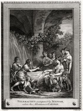 Telemachus Accompanied by Mentor, Relates His Adventures to Calypso, 1774 by J Collyer