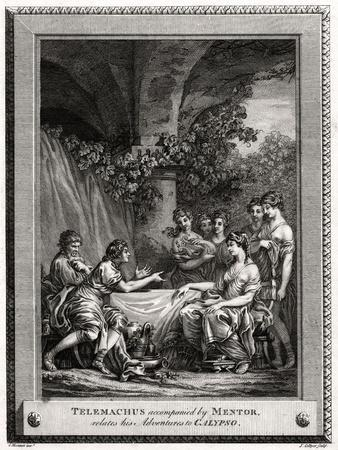 Telemachus Accompanied by Mentor, Relates His Adventures to Calypso, 1774