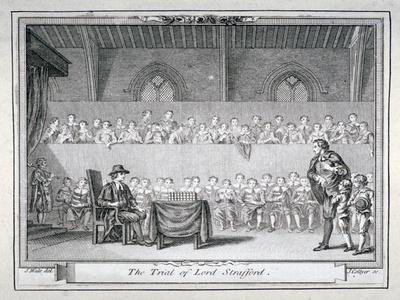 The Trial of Thomas Wentworth, Earl of Strafford, Westminster Hall, London, 1641