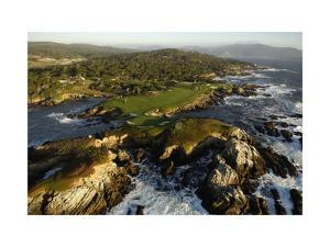 Cypress Point Golf Course, aerial coastline by J.D. Cuban