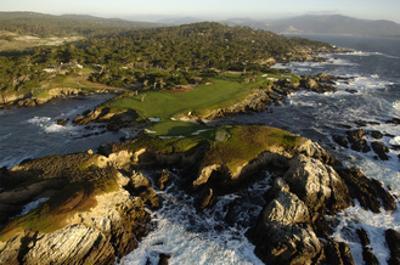 Cypress Point Golf Course, aerial coastline