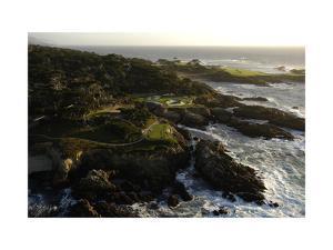 Cypress Point Golf Course, rocky coastline by J.D. Cuban