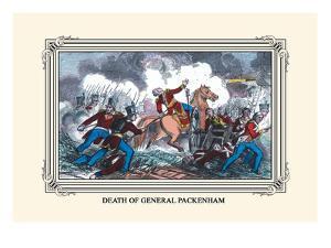 Death of General Packenham by J. Downes