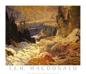 Falls, Montreal River by J^ E^ H^ MacDonald