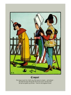Croquet, c.1873 by J.e. Rogers