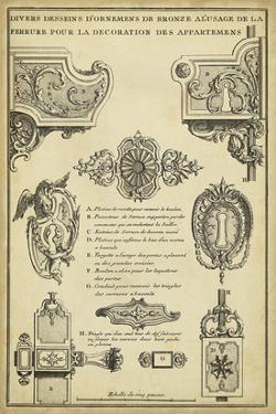 Antique Decorative Locks II by J.F. Blondel