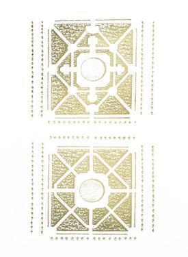 Gold Foil Garden Plan I by J.F. Blondel