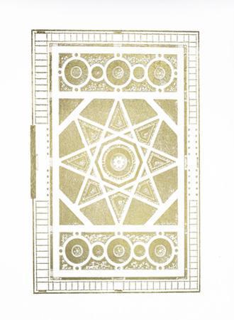 Gold Foil Garden Plan II by J.F. Blondel