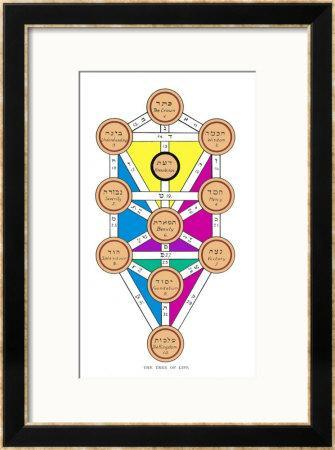 The Tree of Life of the Jewish Caballa