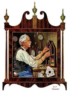 """""""Clockmaker,""""July 18, 1931 by J.F. Kernan"""