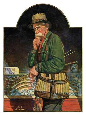 """""""Fishing at the Market,""""May 2, 1931 by J.F. Kernan"""