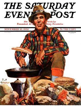 """Flapjacks,"" Saturday Evening Post Cover, November 10, 1934 by J.F. Kernan"