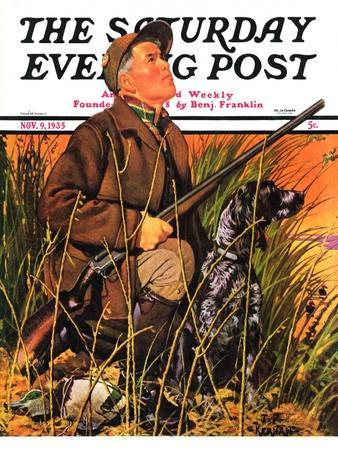 """""""Hunter and Dog in Field,"""" Saturday Evening Post Cover, November 9, 1935"""