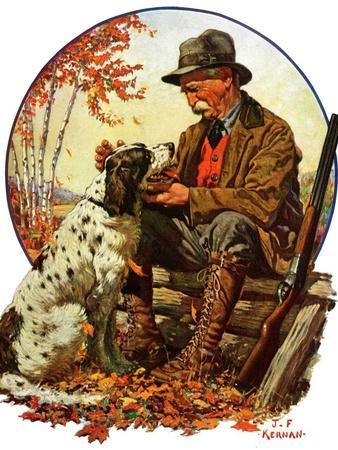 """Hunter and Spaniel,""November 3, 1928"