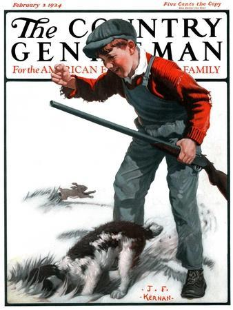 """""""Rabbit Hunting,"""" Country Gentleman Cover, February 2, 1924"""