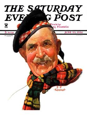 """Scotsman,"" Saturday Evening Post Cover, June 23, 1934 by J.F. Kernan"