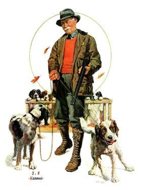 """Springer Spaniels,""November 1, 1930 by J.F. Kernan"