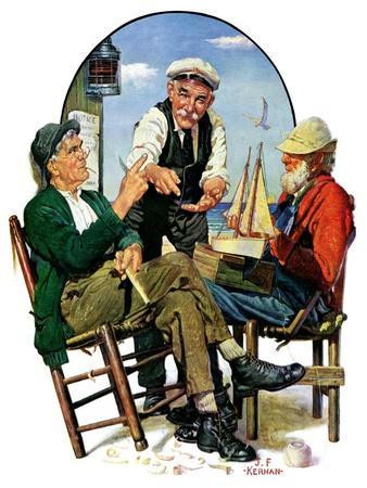 """Three Old Salts,""October 1, 1932"