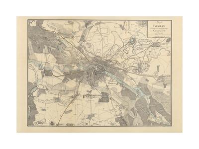 Map of Berlin, 1802