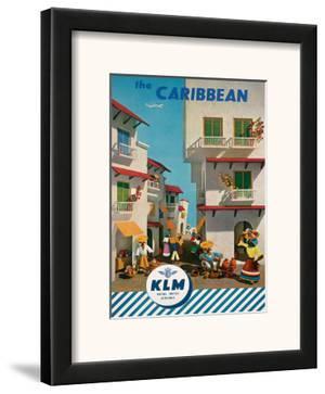 KLM Royal Dutch Airlines: The Caribbean, c.1960s by J.F. Van Der Leeuw