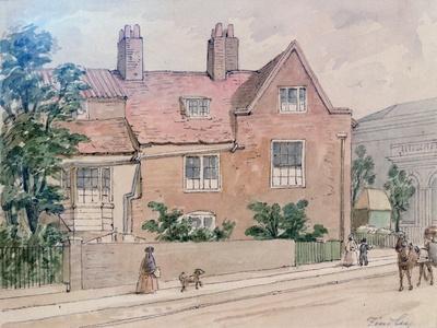 Old Houses at Kennington Green, 1855