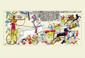 Battle Scene of Seti I and the Khita by J. Gardner Wilkinson