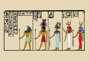 Horus, Ras, Isis and Ra-Ta by J. Gardner Wilkinson