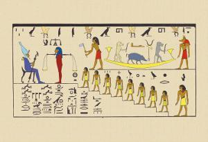 Osiris, Attended by the Guardian of the Balance by J. Gardner Wilkinson