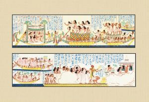 The Funeral Passing over the Lake of the Dead by J. Gardner Wilkinson