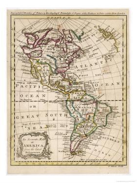 Map of North and South America by J^ Gibson