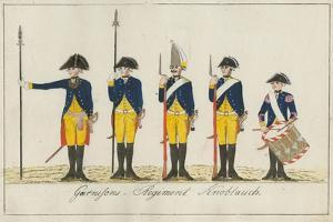 Garnisons Regiment Knoblauch, C.1784 by J. H. Carl
