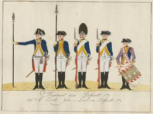Regiment Von Ditfurth, C.1784 by J. H. Carl