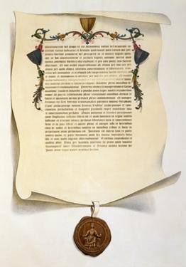 Facsimile of the Magna Carta by J. Harris