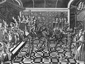 Men Burnt Alive at a Party by J. Harris