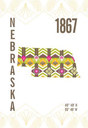 Nebraska by J Hill Design