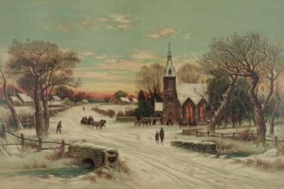 Going to Church, Christmas Eve by J. Hoover & Son
