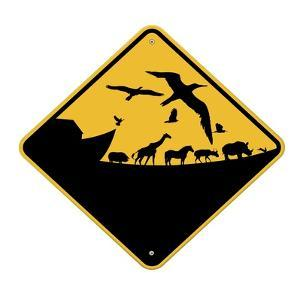 Ark Crossing Sign by J Hovenstine Studios