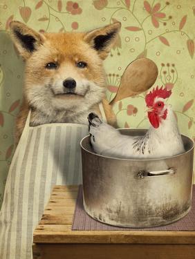 Fox and Chicken by J Hovenstine Studios