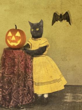 Pumpkin and Cat by J Hovenstine Studios