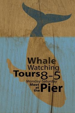 Whale Sign on Wood #2 by J Hovenstine Studios