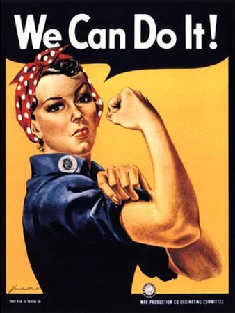 Rosie the Riveter We Can Do It by J. Howard Miller