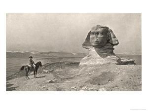 """Egyptian Campaign """"L'Oedipe"""", Napoleon Face to Face with the Sphinx by J^i^ Gerome"""