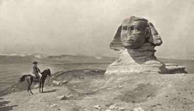 """Egyptian Campaign """"L'Oedipe"""", Napoleon Face to Face with the Sphinx"""