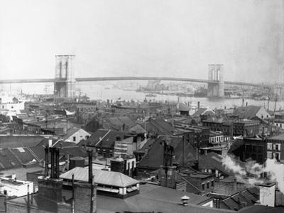 Brooklyn Bridge from Lower Manhattan, New York by J.J. Campbell