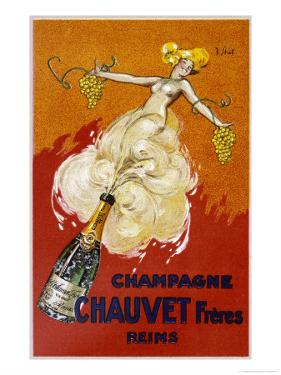 Poster for Chauvet Champagne by J^ J^ Stall