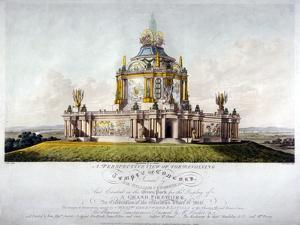Temple of Concord, Green Park, Westminster, London, 1814 by J Jeakes