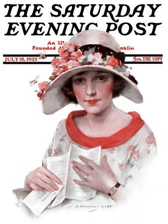 """""""Love Letter,"""" Saturday Evening Post Cover, July 18, 1925"""