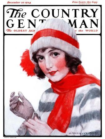 """Woman in Winter Wear,"" Country Gentleman Cover, December 20, 1924"