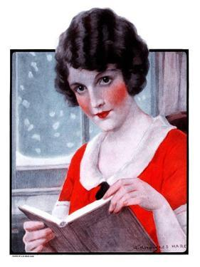 """""""Woman Reading Book,""""March 21, 1925 by J. Knowles Hare"""